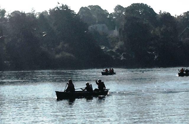 Boote auf der Rennstrecke